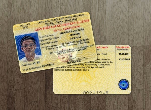 Mất giấy phép lái xe A1