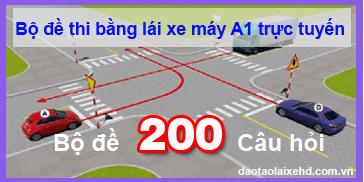Thi thử lý thuyết lái xe máy hạng A1